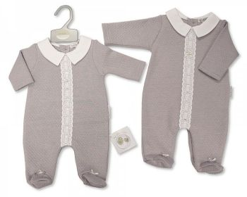 BIS2440, Baby All in One with Lace and Bow £8.10.  PK6..