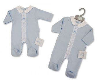 BIS2425, Baby Boys All in One with Lace and Bow £8.10.  PK6..