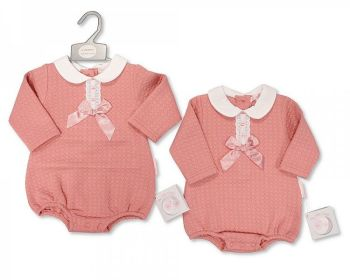 BIS2417, Baby Girls Romper with Lace and Bow £7.35.  PK6...