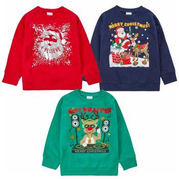 *11C162, Older Kids Christmas Sweatshirt Jumper £5.75.  pk24..