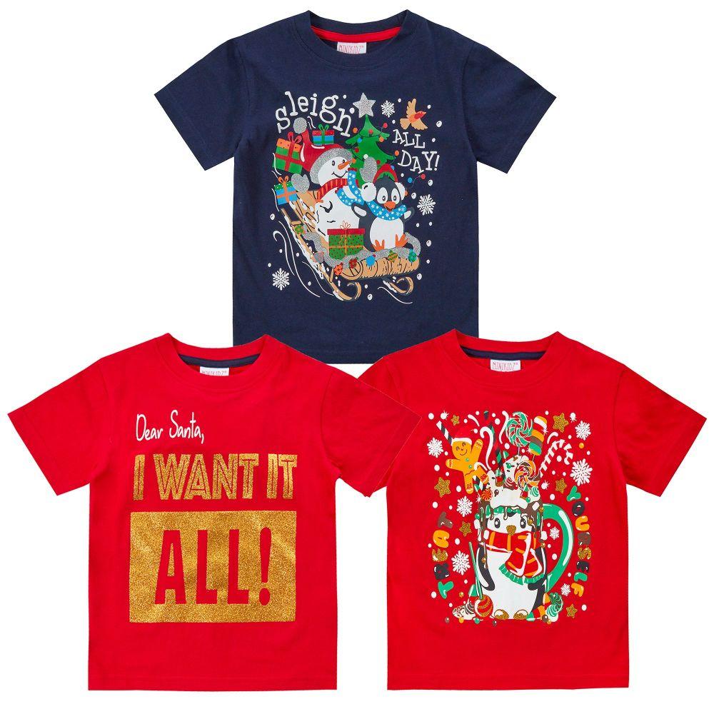 *11C158, Kids Christmas T shirt £2.50.  pk48...