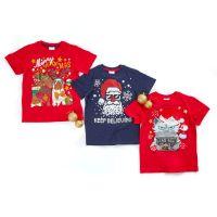 *11C159, Older Kids Christmas T shirt £3.00.  pk48...