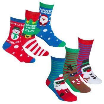 42B727, Kids 3pk Xmas Design Socks £1.50.  24pks...