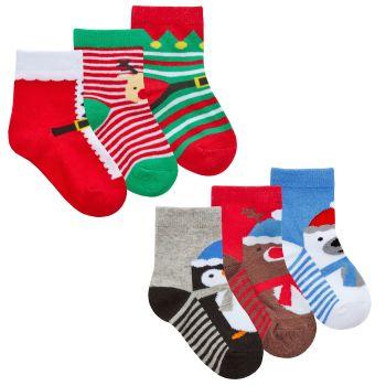 44B934, Baby 3pk Xmas Design Socks £1.30.   24pks...