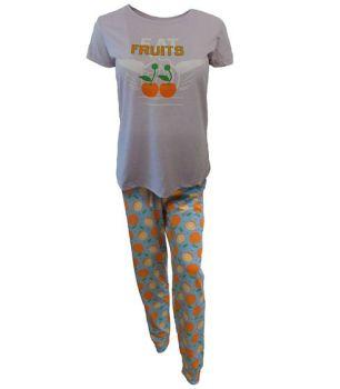 "RTL6285F, EX MAJOR HIGHSTREET LADIES ""EAT FRUITS"" PJ SET £5.50.  PK20..."