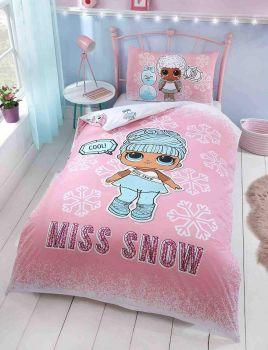 """*V9650, Official """"LOL""""""""Miss Snow"""" Reversible Single Duvet Cover Set £12.95. pk3...."""