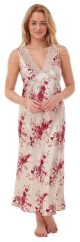 "*IN29402, ""Indigo Sky"" Ladies Floral Satin Nightdress....."