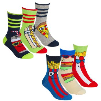 42B699, Boys 3 in a pack design socks £1.35.  24pks...