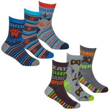 42B734, Boys 3 in a pack cotton rich design socks £1.35.  24pks...