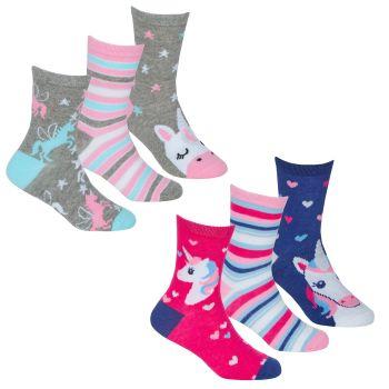 43B736, Girls 3 in a pack cotton rich design socks £1.35.  24pks...