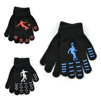 "GL113, Kids thermal magic gloves with ""Football"" design £7.50 A DOZEN.   3 DOZEN...."