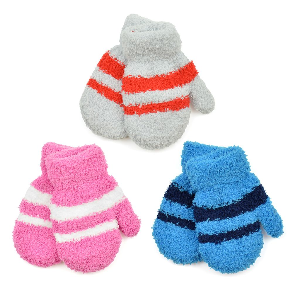 GL904, Baby soft touch striped magic mittens £0.50.  pk36..