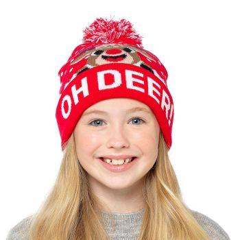 GL951, Kids Christmas Design Bobble Hat £1.75.    pk24....