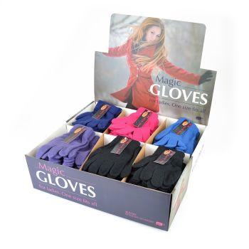 GL154CDUA, Ladies Magic Gloves In a Display Box £7.25 a dozen.   8 dozen......