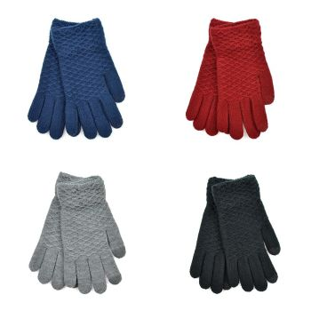 GL537A, Ladies Textured Touch Screen Gloves £1.20.   pk48...