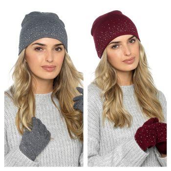 GL575, Ladies Hat & Glove Set £2.50.   pk24...