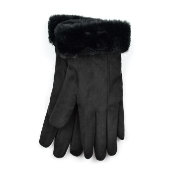 GL860, Ladies Sherpa Lined Winter Gloves- Black £3.50.  pk24.....