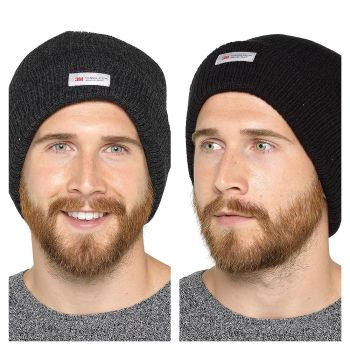 GL396, Mens Thinsulate Ribbed Knitted Hat £1.30.   pk24....