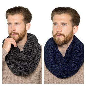 GL618, Mens Knitted Snood £3.95.  pk36....