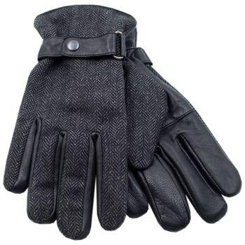 GL623, Mens Tweed Leather Gloves £3.95.    pk36...