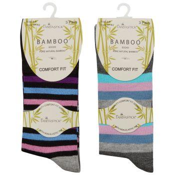 41B545, Ladies 3pk Non Elastic Bamboo Socks £1.95.   48pks...