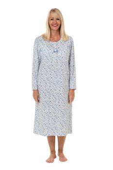 """MA29406, """"Marlon"""" Ladies Long Sleeve Jersey Nightdress £8.50.   pk2..."""