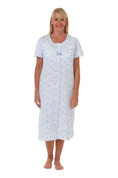 "MA29563, ""Marlon"" Ladies Spot Short Sleeve Jersey Nightdress £7.75.   pk2..."