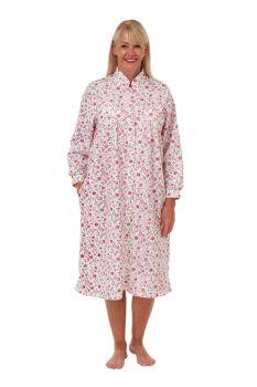 "MA30080, ""Marlon"" Ladies Mock Quilt Button Thru Housecoat £10.00.   pk2..."