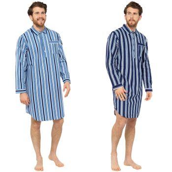HT328B, Mens Traditional Striped Nightshirt £6.10.   pk36...