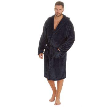 31B1483, Mens Plush Fleece Robe - Navy £12.95.  pk12...