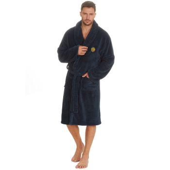 31B1486, Mens Chevron Plush Fleece Robe With Embroidery £12.95.  pk18...