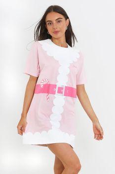 LPJ-149SANTAP, Ladies Santa Nightie - Pink £5.35.  pk24...