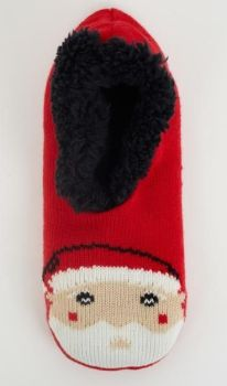 LSF-468ANNIESANT, Ladies Xmas Slipper Socks £2.95.  pk40....