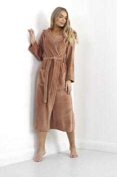 LDG-533OLIVIAC, Ladies Long Length Dressing Gown £11.00.   pk12....