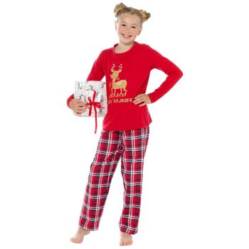 "*LN260, Girls ""Merry & Bright"" Jersey Pyjama Set £7.25.   pk27...."