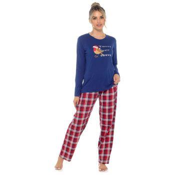*LN1442, Ladies Robin Print Jersey Pyjama Set £8.75.   pk24...