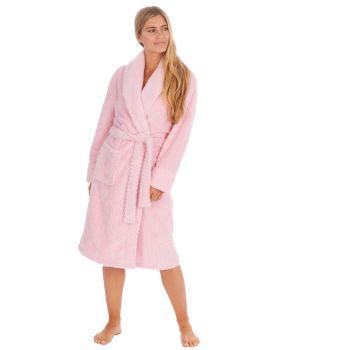 34B1718. Ladies Waffle Fleece Robe -Blush £11.25.   pk12...