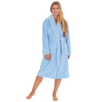 34B1719. Ladies Waffle Fleece Robe -Blue £11.25.   pk12...