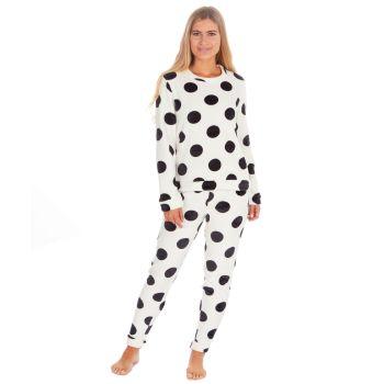 34B1691. Ladies Spot Print Flannel Fleece Twosie £9.25.  pk24..