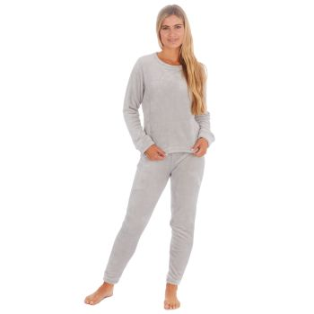 34B1687. Ladies Shimmer Finish Flannel Pyjama- Grey £9.00.  pk24..