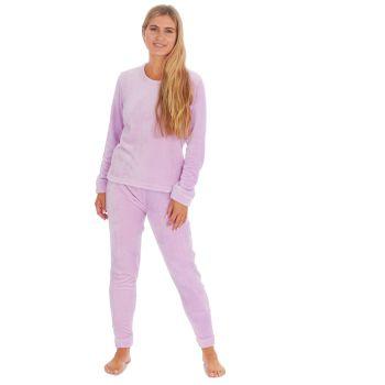 34B1688/LILAC, Ladies Shimmer Finish Flannel Pyjama- Lilac £9.00.  pk24..