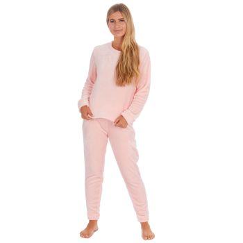 34B1688/PINK, Ladies Shimmer Finish Flannel Pyjama- Pink £9.00.  pk24..