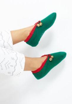 LSF-468ELF, Ladies Xmas Slipper Socks Elf £2.95.   pk40....