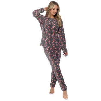 LN1406, Ladies Flamingo Print Fleece Twosie £10.25.   pk24...