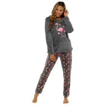 LN1407, Ladies Fleece Flamingo Twosie With Applique Detail £10.95.   pk24...