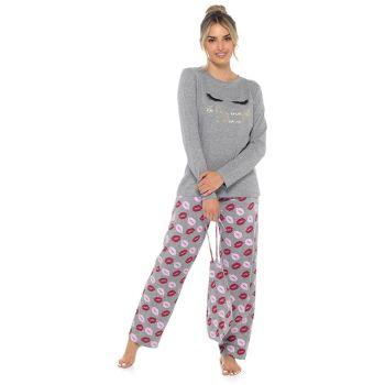 LN1409, Ladies Lip Print Pyjama Set £8.75.   pk24...