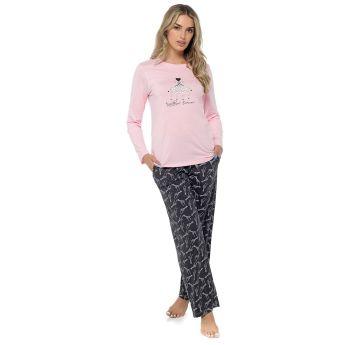 LN1419, Ladies Giraffe Print Pyjama Set £8.75.   pk24...