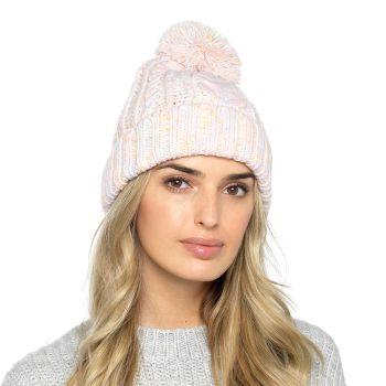 GL879, Ladies Cable Knit Bobble Hat £2.85.   pk48....