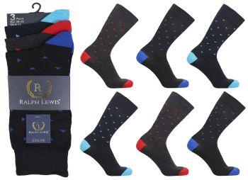 RL5012, Mens design socks £4.25 a dozen, 2 dozen....