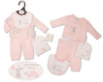 PB382P, Premature Baby Girls 4 Pieces Set - Patience (Leggins, Top, Hat, Bib) £5.50.  PK6...